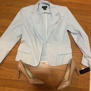 Jackets & Blazers - Striped blazer  (blue and white)